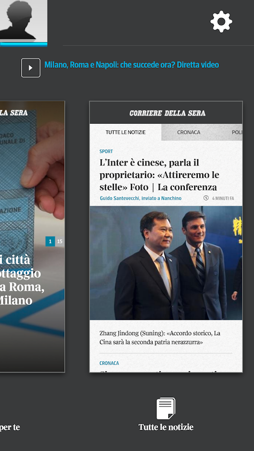 Corriere UP Screenshot 1