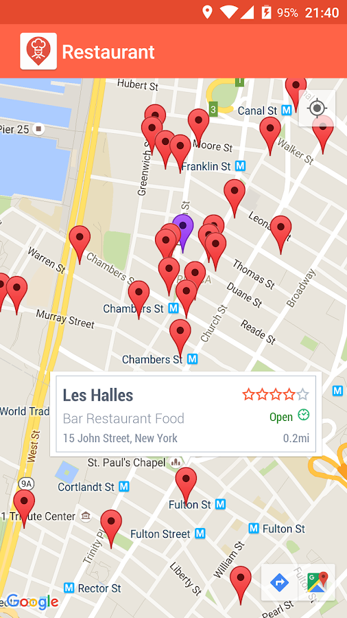 Restaurant Finder Screenshot 2
