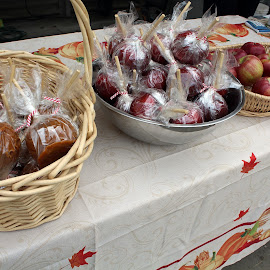 Candy Apples by Lenora Popa - Food & Drink Candy & Dessert ( holiday, fall, candy apples, trick or treat, halloween )