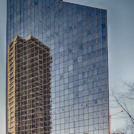 Building Reflection by Brad Larsen - Buildings & Architecture Office Buildings & Hotels ( reflection, buildings, architecture, apartments, downtown )