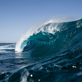 Blue Desert by Burg Thurston - Nature Up Close Water ( thurston, wave, power, ocean, surf, photo )