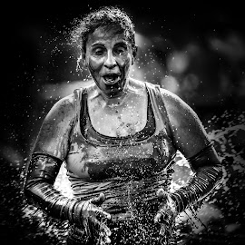 Catharsis by Jose Luis Mendez Fernandez - Sports & Fitness Running ( splash, woman, sports, runner, sweat )