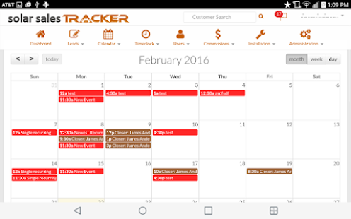 Solar Sales Tracker - Web - screenshot