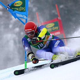 Albin Tahiri in Kranjska gora by Igor Martinšek - Sports & Fitness Snow Sports ( pokal vitranc, albin tahiri, fis ski world cup, slovenia, kranjska gora )
