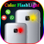 Color Flash Light alert on Call and SMS Icon