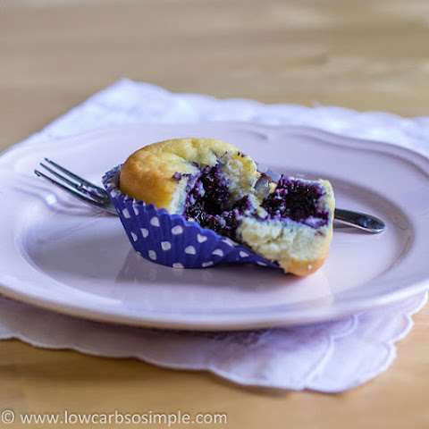 Sugar-Free Blueberry Jam & Blueberry Jam Filled Muffins