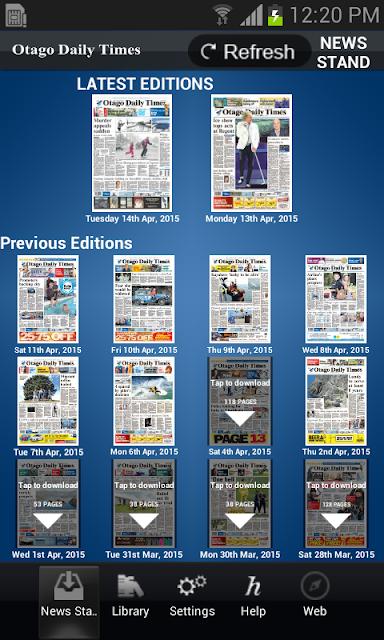 Otago Daily Times screenshots