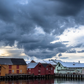 Old and New by Eik Kristensen - Buildings & Architecture Public & Historical ( sky, pomor, hdr, arctic, big, norway )