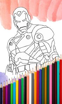 Superhero Coloring Book 2017 APK Screenshot Thumbnail 2