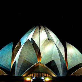 Lotus Temple, Delhi by Vyom Saxena - Buildings & Architecture Statues & Monuments