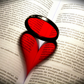 <3 by Danilo Sgamma - Artistic Objects Other Objects ( love, reflection, heart, book, filter )