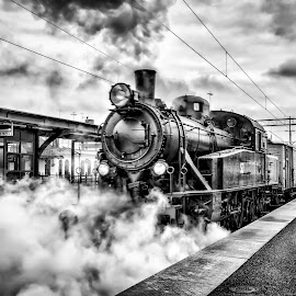 back in time by Lars-Ove Törnebohm - Transportation Trains ( sweden, locomotive, tornephoto, train, katrineholm, steam )