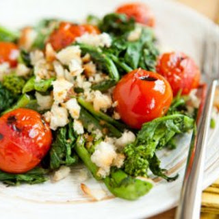 Grilled Tomato and Broccoli Rabe Salad with Sourdough Breadcrumbs