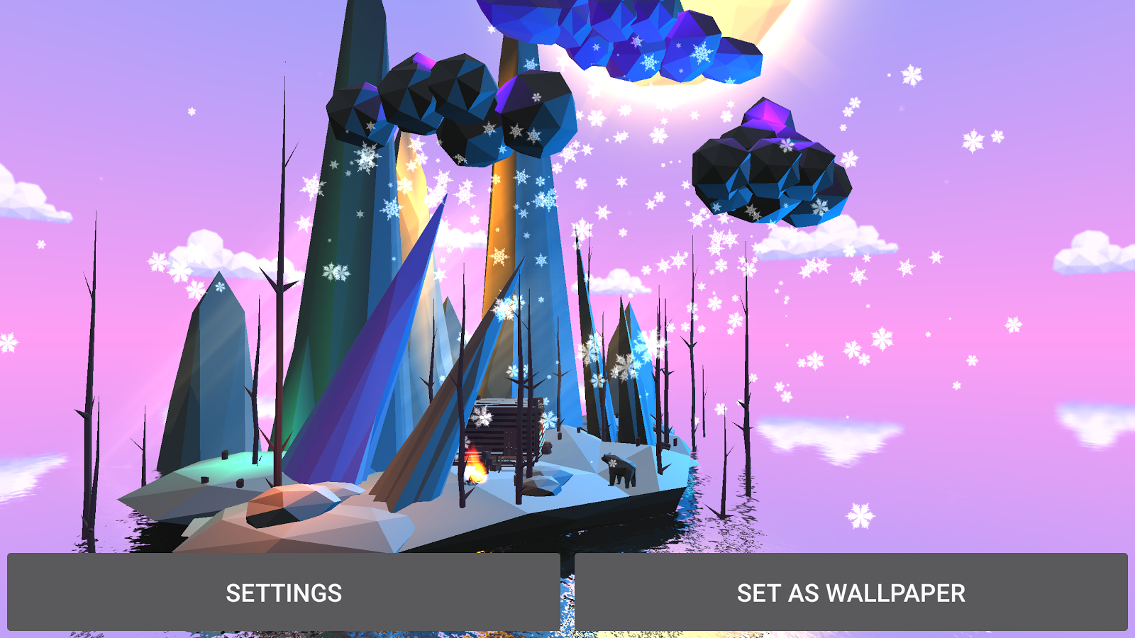 Poly Island 3D Live Wallpaper Screenshot 8