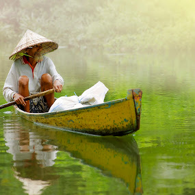 Rowing Boat by Amril Nuryan - People Portraits of Men ( senior citizen )