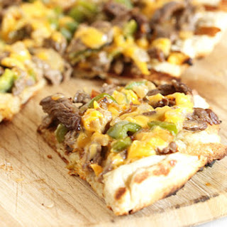 Grilled Philly Cheesesteak Pizza
