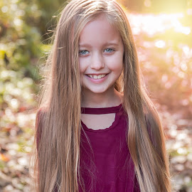 Kayla by Jenny Hammer - Babies & Children Child Portraits ( pretty, fall, light, autumn, girl, child )