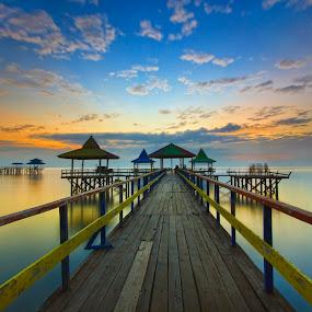 Just Kenji by Van Condix - Landscapes Sunsets & Sunrises ( port, dermaga, ship, fisherman )