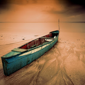 fisherman boat by Farid Wazdi - Transportation Boats