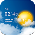 Free Transparent clock & weather APK for Windows 8