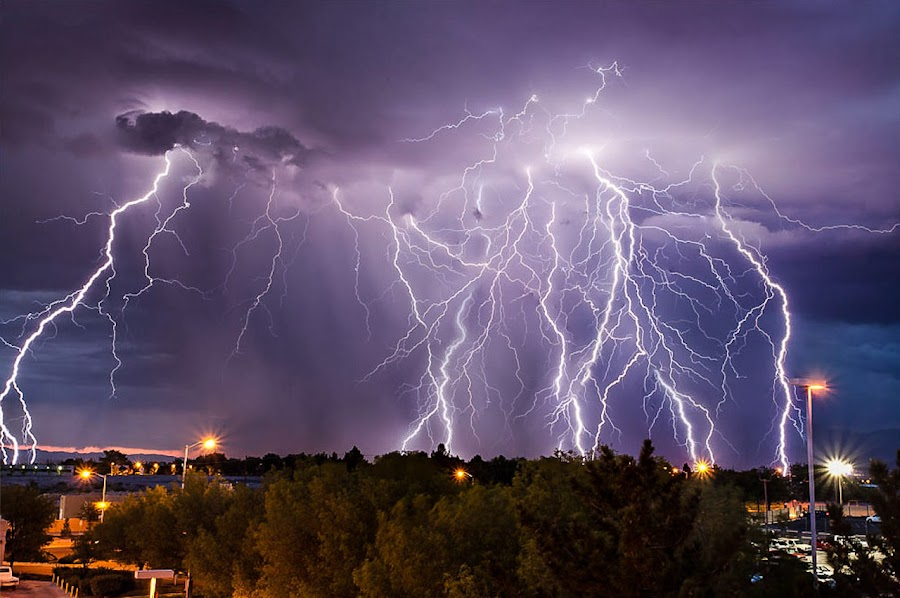 Albuquerque Thunderstorm by Bud Branch - Landscapes Weather ( lightning, albuquerque )