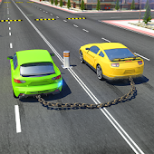 Chained Cars against Ramp