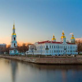 St. Nicholas Naval Cathedral by Alexey Petrov - City,  Street & Park  Historic Districts ( saintpetersburg, spb )