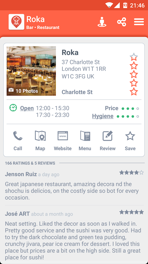 Restaurant Finder Screenshot 1