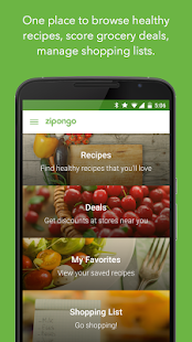 Zipongo - Healthy Recipes Fitness app screenshot 1 for Android