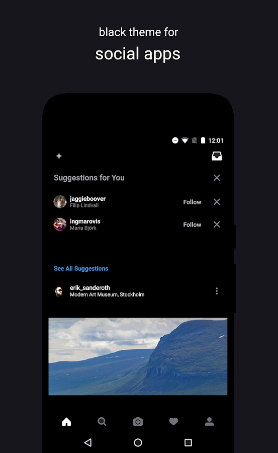 Swift Black Substratum Theme +Oreo & Samsung theme Screenshot 1
