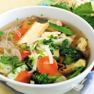 Vegetarian Vietnamese Rice Noodle Soup (Phở Chay)