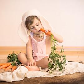 Bunny by Petya Dimitrova - Babies & Children Child Portraits