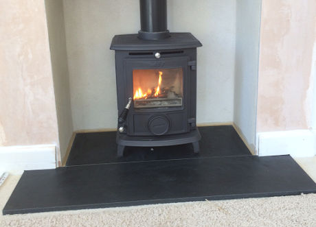 Black Wood Burner Fireplace