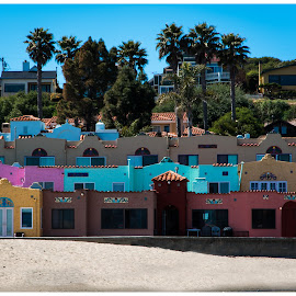 Dressed For The Beach by Jebark Fineartphotography - City,  Street & Park  Vistas ( capitola, sand, beach house, houses, colorful, california, summer, seaside, beach, homes )