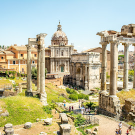 Rome Ruins by T Sco - City,  Street & Park  Historic Districts ( rome, tourist, site, underground, ruins, land, visit, italy )