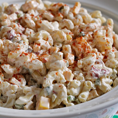 Creamy Pasta Salad with Spicy Pickle Relish
