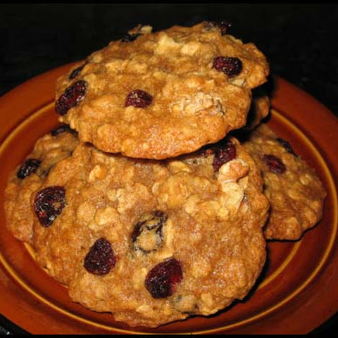 Big Fat Maple Cranberry Walnut Oatmeal Cookies