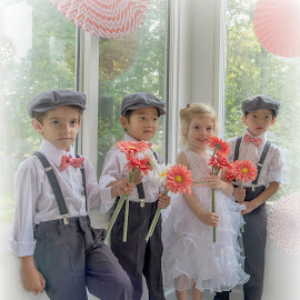 Waiting for the wedding by Ruth Sano - Babies & Children Children Candids ( wedding, ring bearer, children, kids, flower girl )