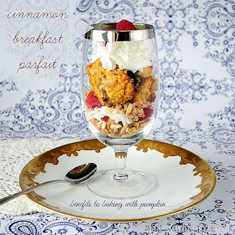 Cinnamon Breakfast Parfait (Baking with Pumpkin)