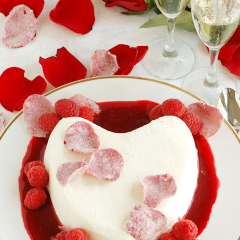 Coeur La Creme-raspberry rose sauce-candied rose petals