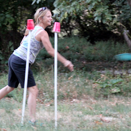 Playing Frickit by Mina Thompson - Sports & Fitness Other Sports ( sports, summer, frickett, frisbee, outside )