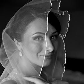 Bride by Nicu Buculei - Wedding Bride ( blackandwhite, wedding, bride, portrait )