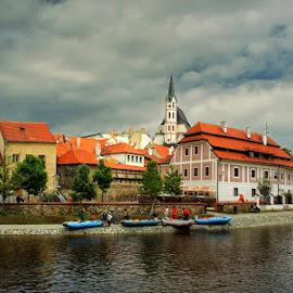 Český Krumlov by Irena Brozova - City,  Street & Park  Vistas