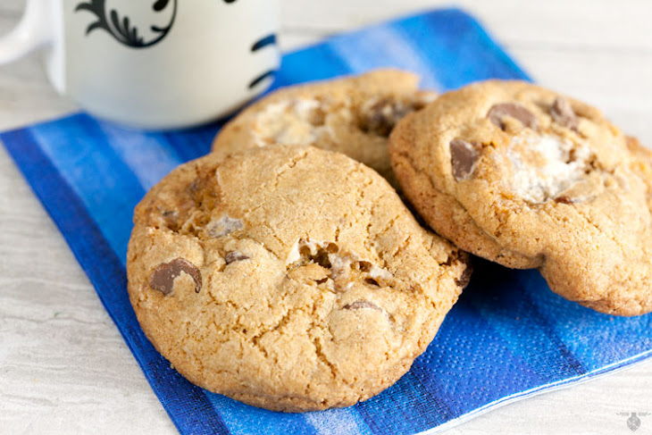 Whole Wheat S'mores Cookies Recipe | Yummly