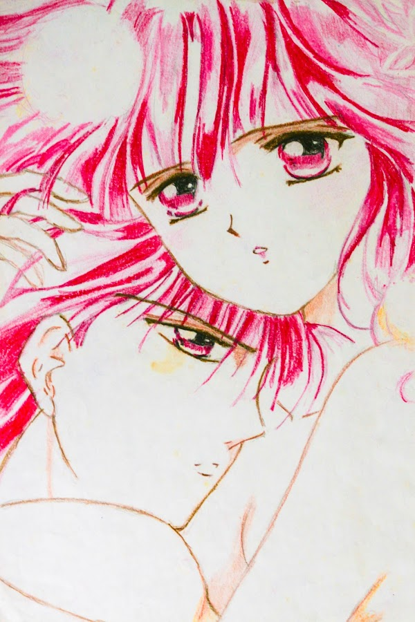 Miaka and Tamahome by Israel  Padolina - Drawing All Drawing ( lovers, cartoon, color pencil, anime, romance, drawing )