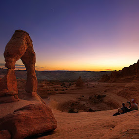 Delicate Arch After Sunset by Al Juniarsam  - Nature Up Close Rock & Stone