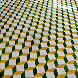 Abstract Floor by Dave Feldkamp - Abstract Patterns ( squares, patterns, pattern, 3d, square )