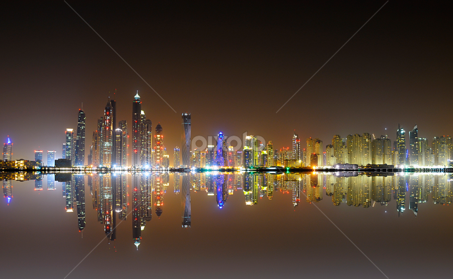Marina Towers by Jbern Eugenio - Buildings & Architecture Office Buildings & Hotels ( reflection, building, art, fine art, architecture )