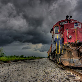 Rail America by Jason James - Transportation Trains ( indiana, hdr, locomotive, train, landscape )