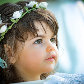 A cute young child by Enzo Minchella - Babies & Children Child Portraits ( wedding, beautiful, young girl, flowers, pretty )